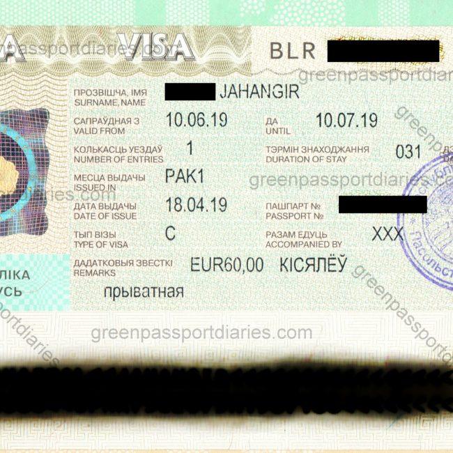 Belarus Visa From Pakistan