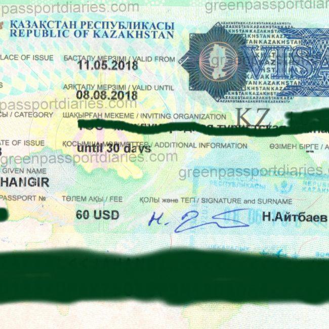 Kazakhstan Visa From Pakistan